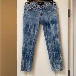 Lucky brand distressed acid jeans 25 ankle zipper